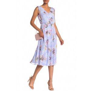 NEW Eliza J v neck blouson floral dress size 2